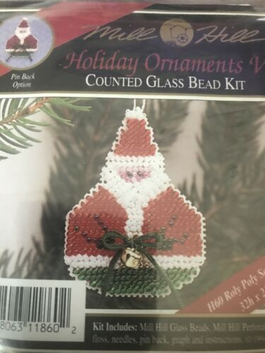Mill Hill Beaded Cross Stitch Kit Holiday Ornaments V Roly P