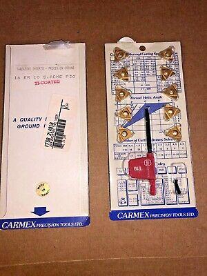 Carmex Carbide Thread Inserts 16 Er 10 S. Acme P30 Qty 17