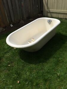 Vintage cast iron claw foot tub