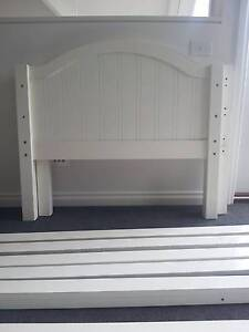 White painted wood Single Bed with mattress Mount Eliza Mornington Peninsula Preview