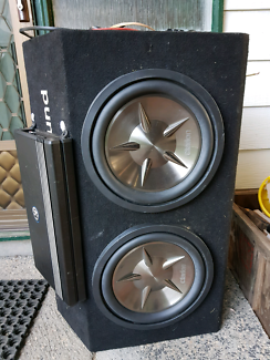 Clarion subwoofers and amp Memphis