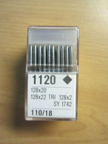 100-128x2, 128x20, 128x22 Triangular Leather Sewing Machine Needles sz 18