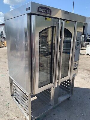 Baxter Ov310g Gas Bakery Mini Rotating Rack Convection Oven On Stand