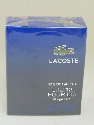 Eau De Lacoste L.12.12 Magnetic Pour Lui 3.3 / 3.4 oz edt New in Box