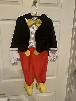 Mickey Mouse Costume 18 Months (Disney Mickey Mouse Plush Costume Toddler Size 18 Months One)