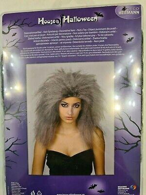 Perücke Zombie Hexe Halloween grau schwarz  für - Perücken Für Halloween