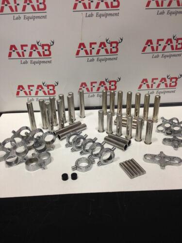 IEC International Assorted Centrifuge Metal Tubes and Collars (Lot of 48 pcs.)