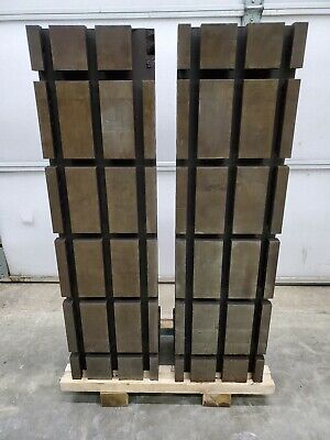 Pair Of T-slotted Angle Plates 11w X 39t X 13d T Slot Fixture Plate