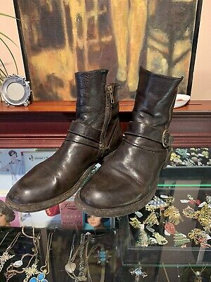 Officine Creative Dark Brown Leather Booties Size 38