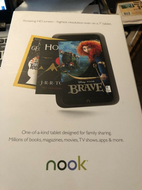 """Barnes & Nobles Nook Simple Touch Reader WiFi 6"""" Touchscreen With Tab Folio"""