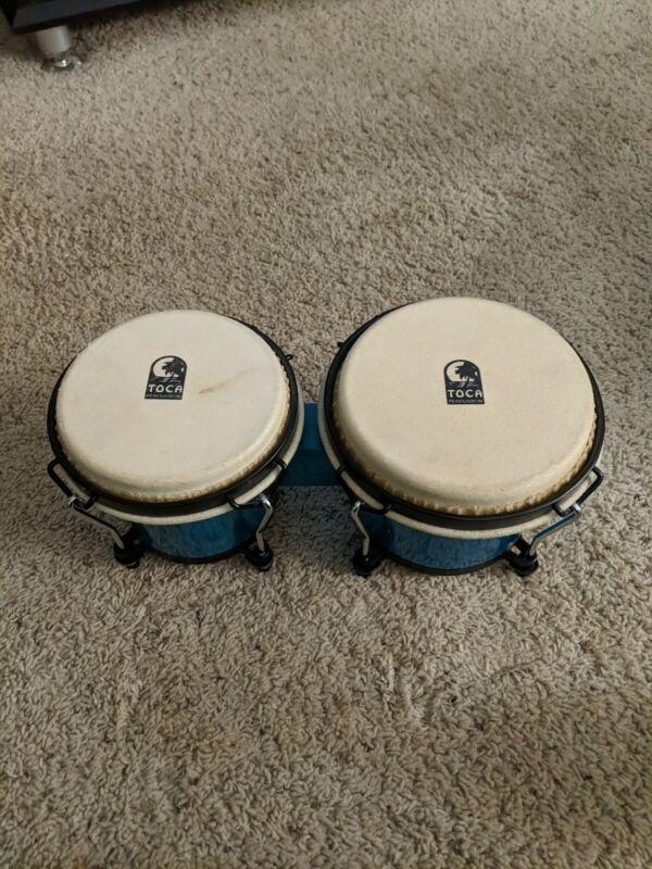 Toca Percussion Bongo Set teal