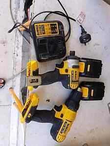 Dewalt 18v  drill  combo  with impact driver Southport Gold Coast City Preview