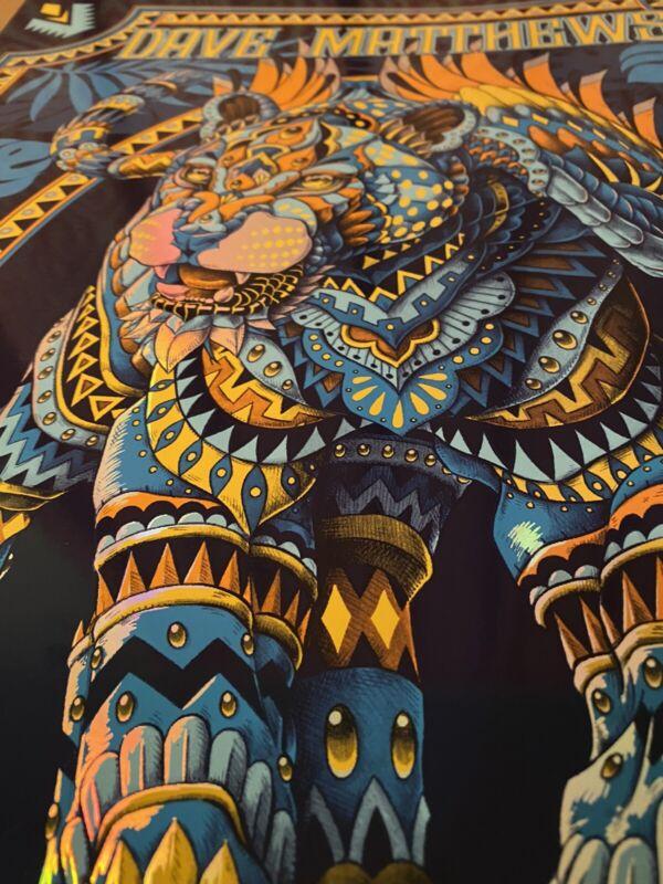 🔥FOIL DAVE MATTHEWS TIM REYNOLDS POSTER Cancun, Mexico #/50 BioWorkz 2020 Kwok