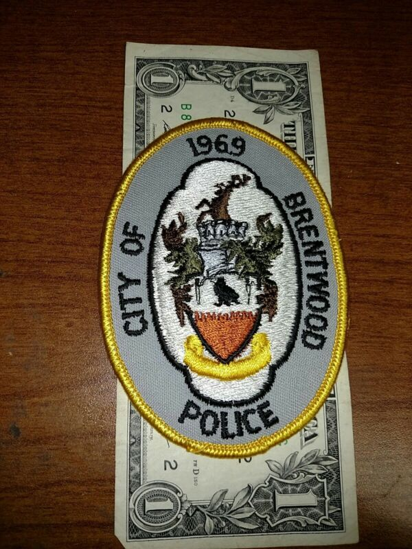City Of Brentwood Tennessee 1969 Police Department Patch New Old Stock
