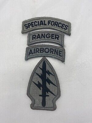 US Army Special Forces Ranger ACU Patch Set (E744