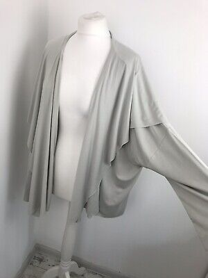Ivan Grundahl Cardigan Open Front Waterfall Lagenlook Relaxed Fit Size L