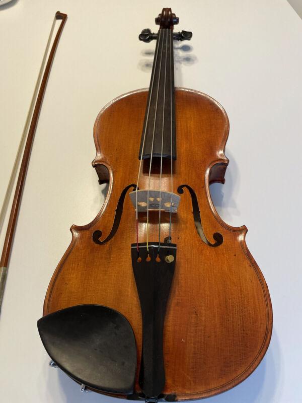 "Albert Nebel 15.5"" Viola with Bow, Case, & Extra Bridge Incl."