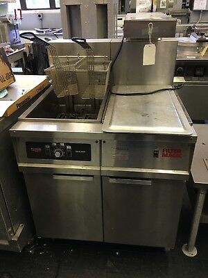 Used Frymaster Fh14sd 50 Lb Fryer With Holdingwarming Station
