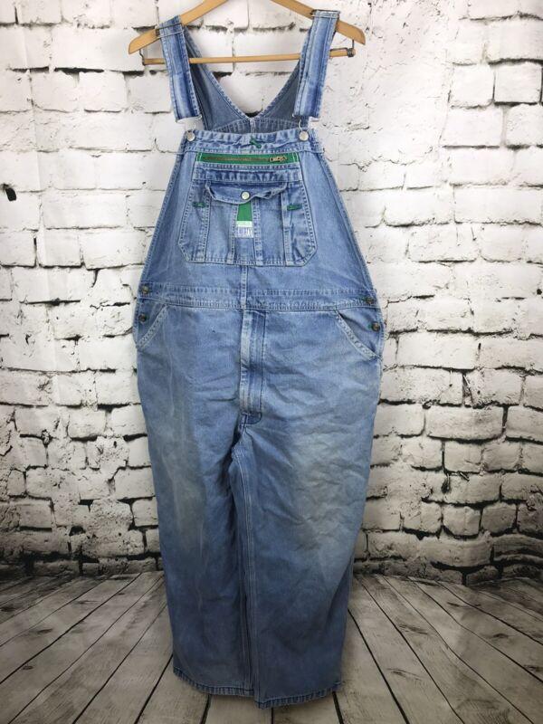 Liberty Denim Vintage Bib Overalls Men's Sz 46x30 Farming Workwear Cotton