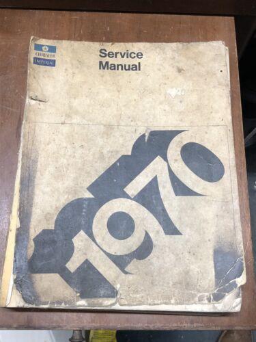 1970 CHRYSLER IMPERIAL CROWN LEBARON FACTORY DEALER SERVICE REPAIR MANUAL 70
