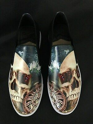 201cf174426 Robert Graham IVERSON Slip On Skull Pocket Watch  218 NEW IN BOX Size 10  Shoes