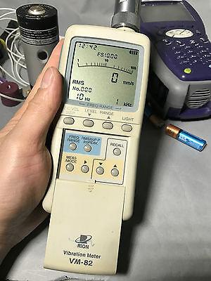 Rion Vm-82 Vibration Measure Tester W Vp-26c Preamplifier Wo Accelerometer