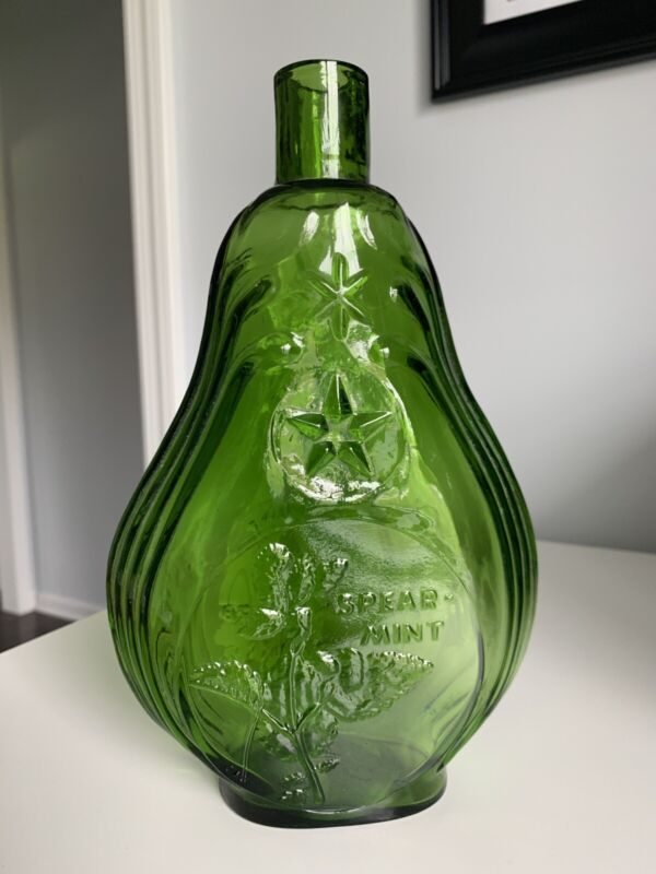 Scarce Vintage Spearmint Herb Of The Month Clevenger Embossed Bottle 3 Of 12