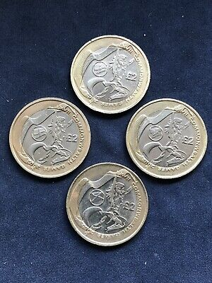 Complete Set 4 Commonwealth Games £2 Coins Inc Northern Ireland Two Pound Coin