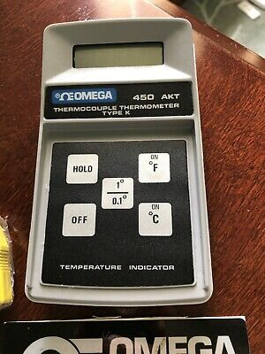 Omega 450 Akt Thermocouple Thermometer Type K