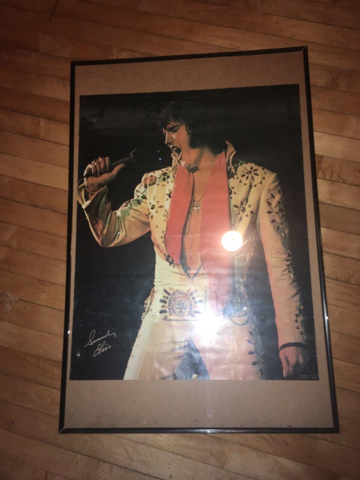 1972 Elvis Presley Souvenir All Star Shows Concert Poster Sincerely Elvis  - $99.99