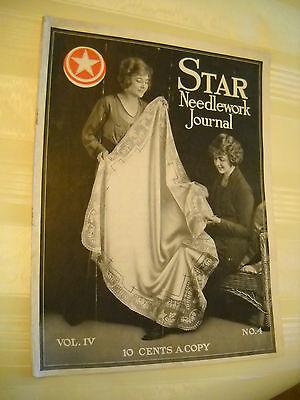 STAR NEEDLEWORK JOURNAL  Antique 1919, 20 pg Crochet Tatting Magazine LITHOGRAPH