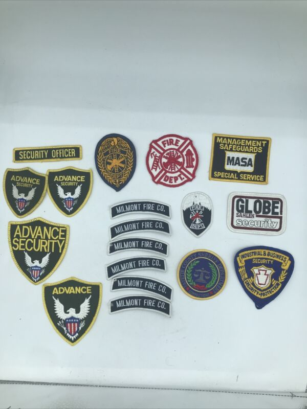 Mixed Lot of Patches Sherif Security Dept of Corrections Fire Community Service