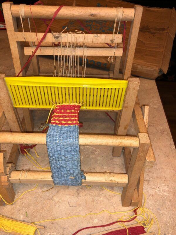 Vintage 1972 Weaving Table top Mabu Loom Germany W/ Orig Box
