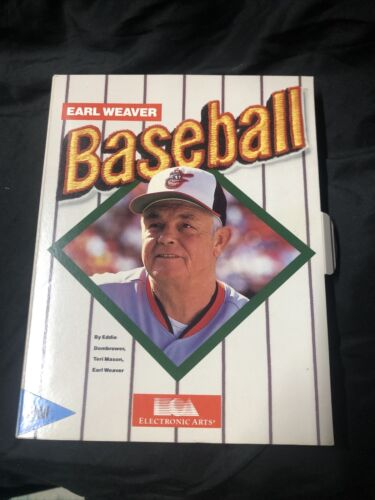 Computer Games - COMPLETE IN BOX EARL WEAVER BASEBALL II ELECTRONIC ARTS IBM COMPUTER GAME