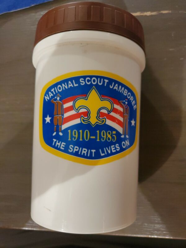 BSA National Scout Jamboree 1910-1985. Thermos. Boy Scouts of America.