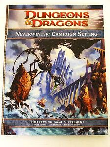 Dungeons & Dragons Neverwinter Campaign Setting 160p book options/adventures D&D