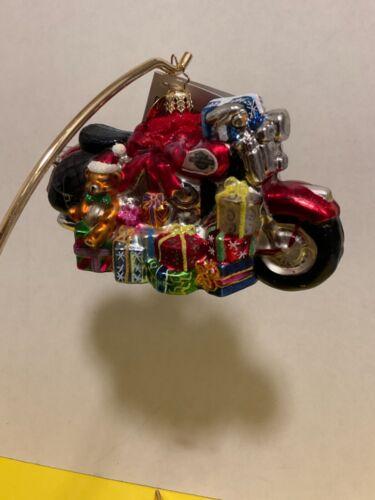 "Christopher Radko ""Deck The Harley"" Ornament - Rare hard to find Harley Davidson"