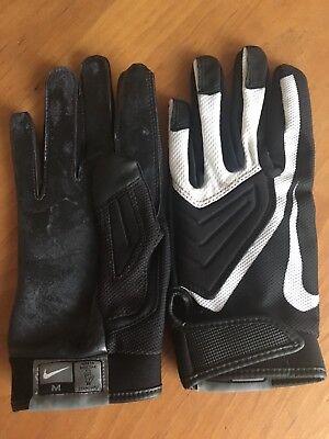 """""""Nike"""" Motorrad-Handschuhe, Damen, kurz, schwarz mit weißem Einsatz, Größe M Kurze Schwarze Nylon-handschuhe"""