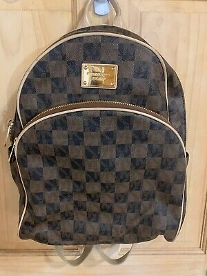 MICHAEL KORS COATED CANVAS LOGO/SIGNATURE CHECKERED/ CHECKERBOARD/  BACKPACK