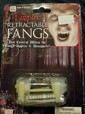 Deluxe Costume Disappearing Retractable Vampire - Retractable Fangs
