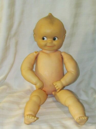 "Vintage 19"" Vinyl Cameo Kewpie Squeaker Doll w/ Hinged Limbs(damaged right hand)"