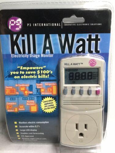 P3 KILL A WATT Power Usage Voltage Meter Monitor P4400 NEW  - $28.00