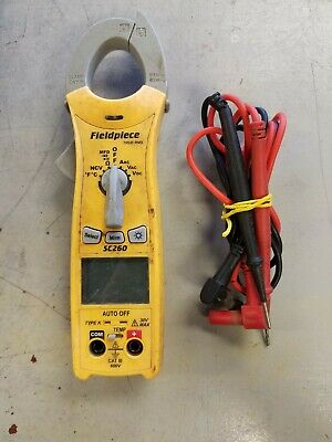 Fieldpiece Sc260 Compact Series Digital Clamp Meter True Rms