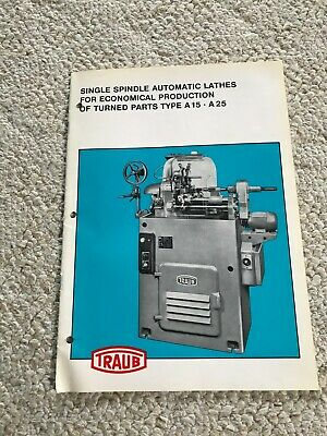 Traub A15 - A25 Single Spindle Automatic Lathes Sales Catalog German Made