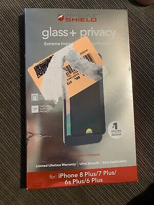 ZAGG Invisible Shield Glass+ iPhone 7 Plus / 8 Plus Damaged Box Contents Good