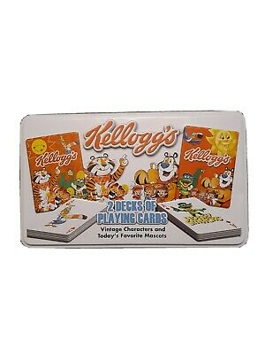 KELLOGG'S 2 Decks Playing Cards VINTAGE CHARACTERS and Today's FAVORITE MASCOTS
