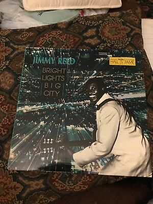 JIMMY REED Bright Lights Big City 1988 Chameleon U.S. Electric Blues Harmonic LP