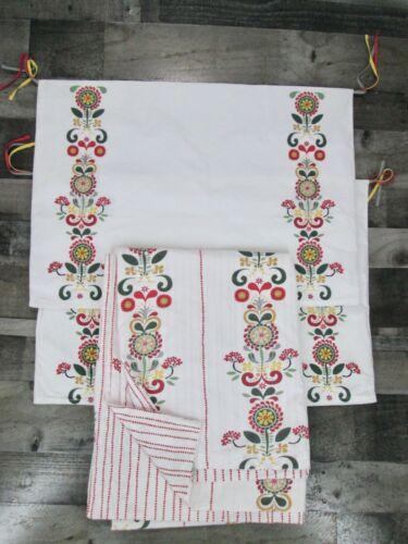 Ikea Akerkulla Twin Duvet Cover 2 Pillowcase Sham Scandinavian Folk Art Floral