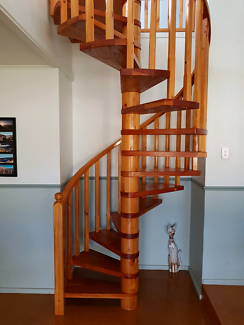 Solid Pine Spiral Staircase