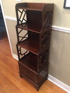 Antique Bookcase - mahogany- beautiful scrolled sides